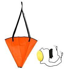 "24"" PVC Fishing Sea Anchor Drogue for 14-16' Boat + 30' Kayak Tow Rope Float"