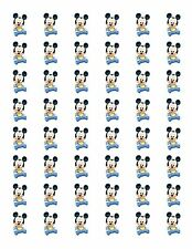 "48 BABY MICKEY MOUSE ENVELOPE SEALS LABELS STICKERS 1.2"" ROUND"
