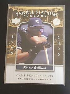 Bernie Williams 2008 Upper Deck Yankee Stadium Legacy New York Yankees 0189