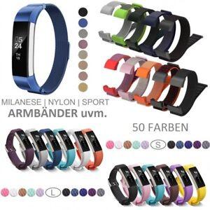 FitBit Alta HR Inspire HR Armband Ersatzband Nylon Milanese Sport Edelstahl