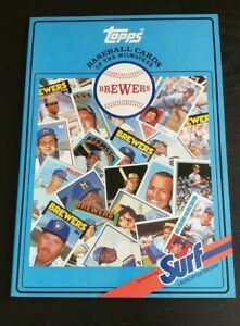 1987 Milwaukee Brewers Surf Topps Baseball Card Collectible Book ALL TOPPS CARDS