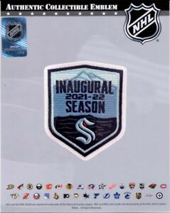 """SEATTLE KRAKEN INAUGURAL SEASON PATCH OFFICIALLY LICENSED NHL HOCKEY 3.5""""  STYLE"""