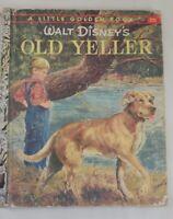 Vintage Children's 1950's Little Golden Book Edition B Walt Disney' Old Yeller