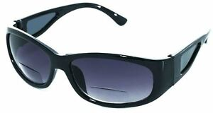 Bifocal Sunglasses Black Fishing Sports Wrap Around UV Eye Protection