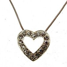 Necklaces Diamante Style Diamante Heart Pendants
