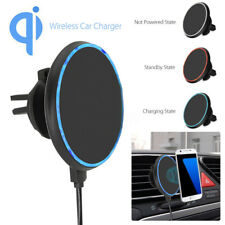Fast Qi Wireless Car Charger Magnetic Air Vent Mount Holder For iPhone Samsung