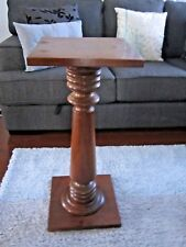 """VINTAGE MID CENTURY CATHEDRAL STYLE PEDESTAL PLINTH PLANT STAND BY """"MYER-ROCKE'"""