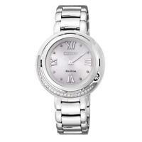 Reloj Citizen Eco Drive Diamonds EX1120-53X Acero Mujer