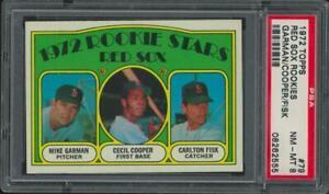 1972 Topps Red Sox #79 Mike Garman Cecil Cooper Carlton Fisk RC NM-MT PSA 8