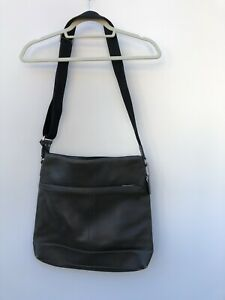 Coach Camden Pebbled Leather Gray Tech Crossbody Bag F70457