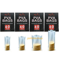 60pcs Carp Fishing Bait PVA Bags Fast Dissolving Non Residue All Types Feeder