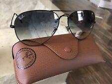 Ray Ban aviator 62mm Dark Gradient Black Frame Sunglasses