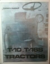 Homelite T-10 12 15 16 Garden Tractor & Implements Owner & Parts (9 Manuals)124p