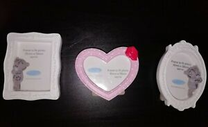 Tatty Teddy Me to You Set of Small Photo Frames Heart White/Pink