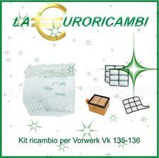Vorwerk folletto vk 135 136 kit manutenzione 6 sacchetti 6 profumi 2 filtri