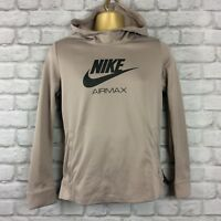 NIKE AIR MAX BOYS UK 13-15 YRS POLY STONE OVERHEAD HOODIE HOODY JUNIOR RRP £60