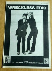 WRECKLESS ERIC 1978 STIFF RECORDS FULL PAGE PRESS ADVERT POSTER SIZE  37/26CM