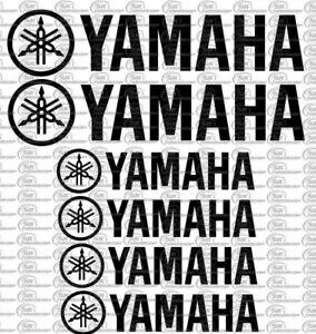Yamaha Logo Motorrad Auto Aufkleber Set 6 Teilig Sponsoren Decals Farbauswahl