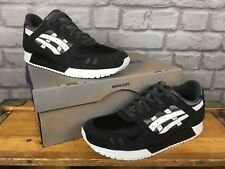 ASICS MENS UK 5.5 EU 39.5 BLACK GEL LYTE III PS SPORTS TRAINERS RRP £70 RUNNING