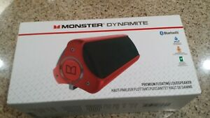 Monster By Dr Dre Dynamite Portable Wireless Bluetooth Speaker system Red New