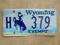 American number plate licence plate license Wyoming vintage man cave USA old