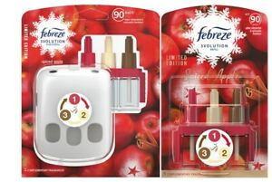 Febreze 3volution Plug-in Starter Kit Spiced Apple scent Plug & Extra Refill