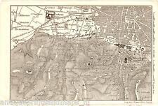 Antique map Certosa di Pavia Bologna Lombardy 1909 mappa antica carta plan