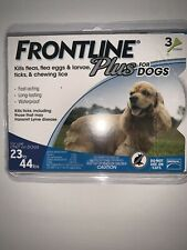 New - Frontline Plus for Dogs - 23 - 44 lb - 3 Doses