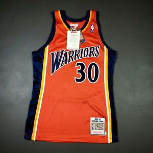 100% Authentic Stephen Curry Mitchell Ness 09 10 Warriors Jersey Mens Size 36 S