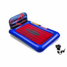 Living iQ Inflatable Kids Headboard Air Bed Mattress with Pump, Marvel Spiderman