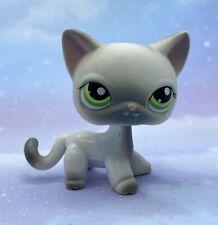 Littlest Pet Shop Authentic # 125 Gray White Siamese Short Hair Cat Blemished