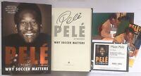 Pele signiert Brasilien Fußball Buch Original Unterschrift Signatur Autogramm