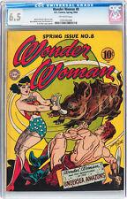 Wonder Woman #8 CGC 6.5 DC 1944 JLA Movie! Superman Batman Flash E9 cm clean