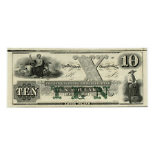 *jcr_m*USA 1800´s $10 DOLLARS NEW ENGLAND COMMERCIAL BANK, NEWPORT, RHODE ISLAND