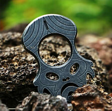 TC4 Titanium Outdoor Single Finger Key Chain Tactical Defense Survival Tool MT01
