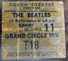 THE BEATLES CONCERT PROGRAMME AND TICKET BIRMINGHAM ODEON OCTOBER 11TH 1964