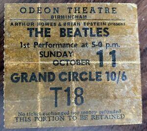 THE BEATLES CONCERT PROGRAMME AND TICKET BIRMINGHAM ODEON OCTOBER 11TH 1964
