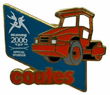 Melbourne 2006 Commonwealth Games Coates Hire Orange Blue White pin badge