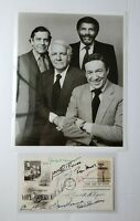 10 News Anchors Hand Signed FDC 1967 Autographs Cronkite, Harvey, Reasoner, Mudd