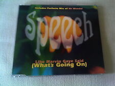 SPEECH - LIKE MARVIN GAYE SAID (WHAT'S GOING ON) - UK CD SINGLE