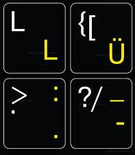 german-english non transparent black keyboard sticker