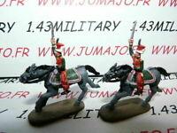 SOLDAT de plomb DEL PRADO 1/50 : AUSTERLITZ Napoléon : lot n°30 2 cavaliers