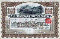 New York, Ontario and Western Railway Company 1937 (10 Shares)