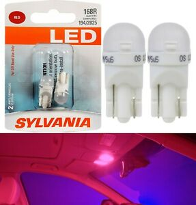 Sylvania Premium LED light 168 Red Two Bulbs Interior Map Replace Upgrade Lamp
