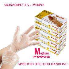 2500pcs Poly HDPE Food Handling Service-Disposable Gloves Latex Free Size:Medium