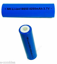1 BATTERIA RICARICABILE ION LITIO 4200 mAh 3,7v Torcia Softair