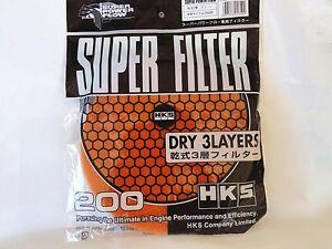 HKS Super Mega Flow Replacement Filter Elements Air Intake Filter Red