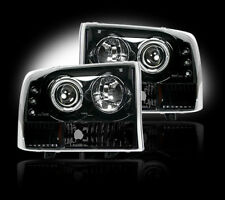 RECON FORD SUPER DUTY SMOKED PROJECTOR HEADLIGHTS 99-04 PART# 264192BK