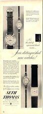 1952 Seth Thomas  wrist watch four modles detailed mens & womens PRINT AD