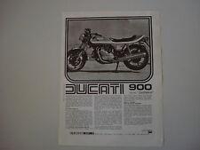 advertising Pubblicità 1977 MOTO DUCATI 900 SD SPORT DARMAH